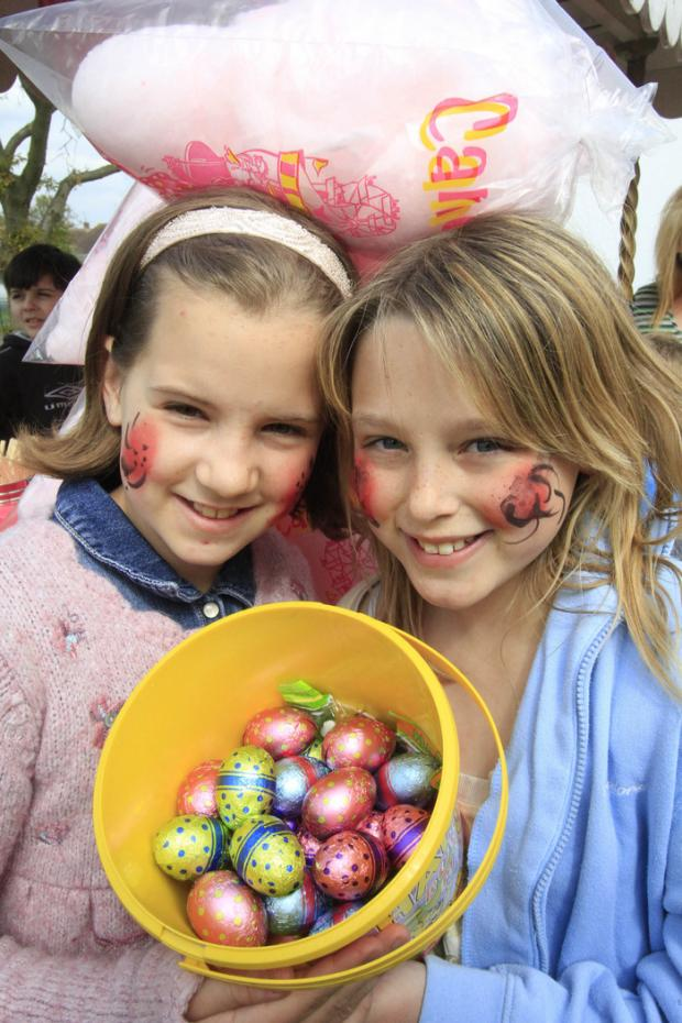 East Kilbride Connect: Natalia Dyner, 11, and Shannon Canny, 10, at the Aberford Park Easter egg hunt