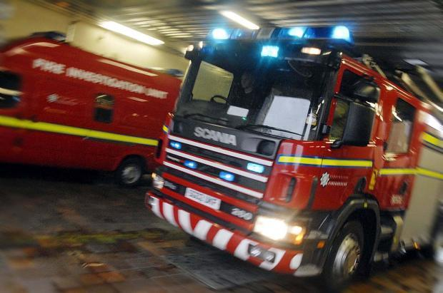 Firefighters tackle car blaze in Shawlands