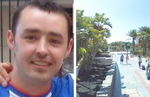 He was last seen just outside the Playa del Ingles resort in Gran Canaria