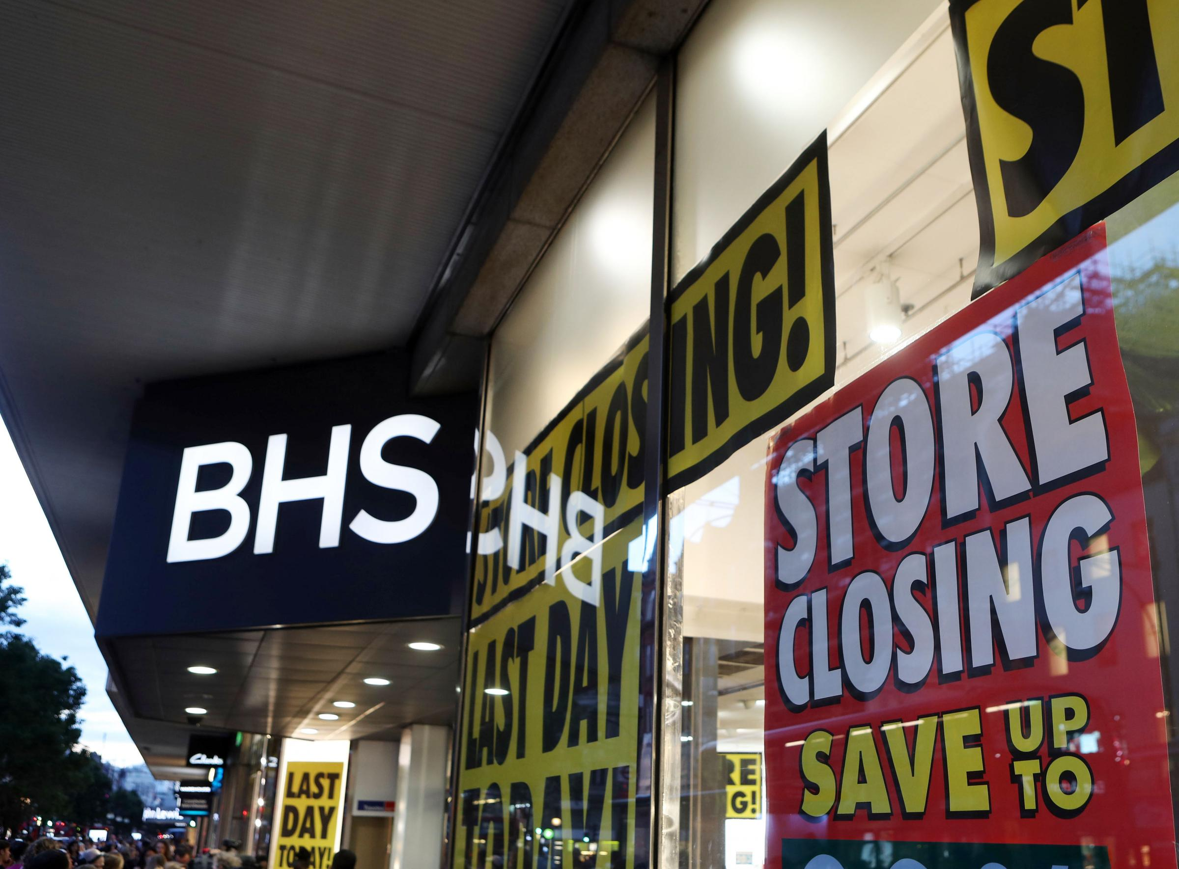 File photo dated 13/08/16 of a BHS store on Oxford Street, London, as the last 35 BHS stores are expected to close this week, with the doomed retailer set to disappear from the high street entirely by the weekend. PRESS ASSOCIATION Photo. Issue date: Mond