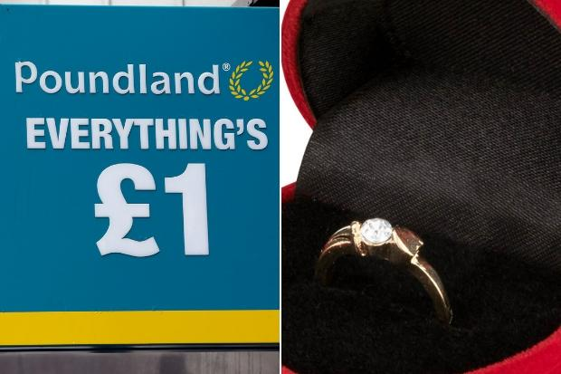 Engagement rings on sale in POUNDLAND