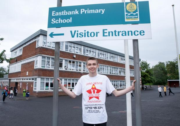 East Kilbride Connect: John outside Eastbank primary.